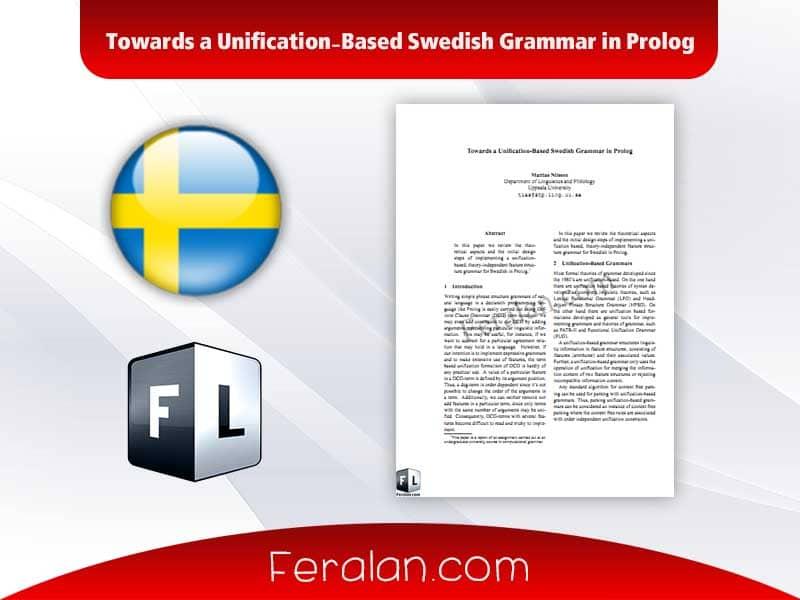دانلود مقاله Towards a Unification-Based Swedish Grammar in Prolog