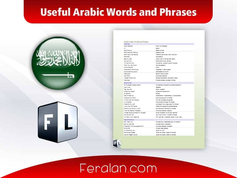 Useful Arabic Words and Phrases