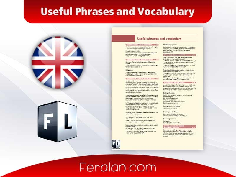 Useful Phrases and Vocabulary