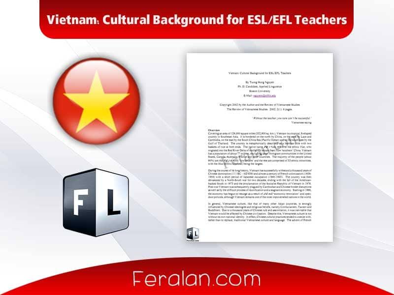 دانلود مقاله Vietnam: Cultural Background for ESL/EFL Teachers