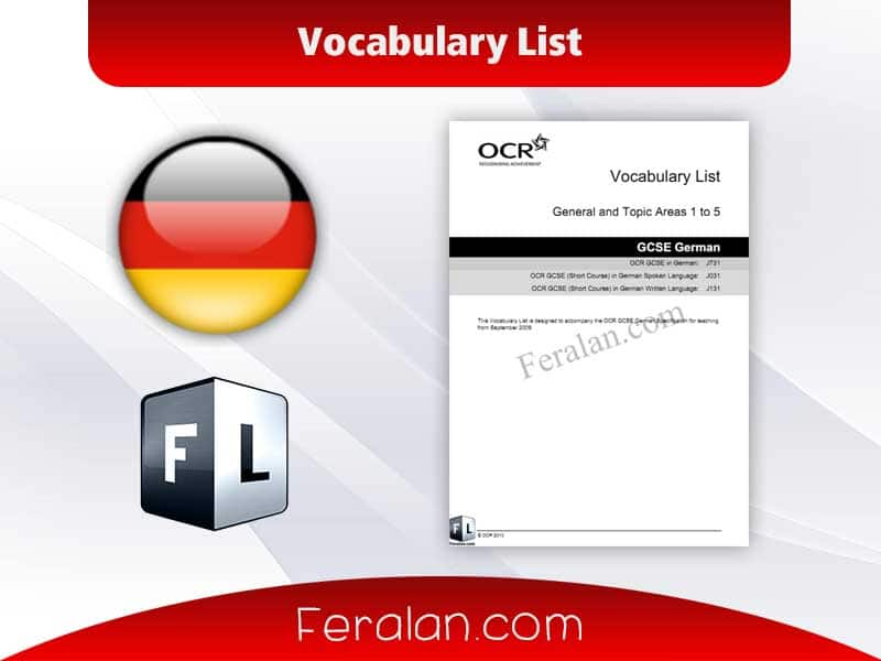 Vocabulary List