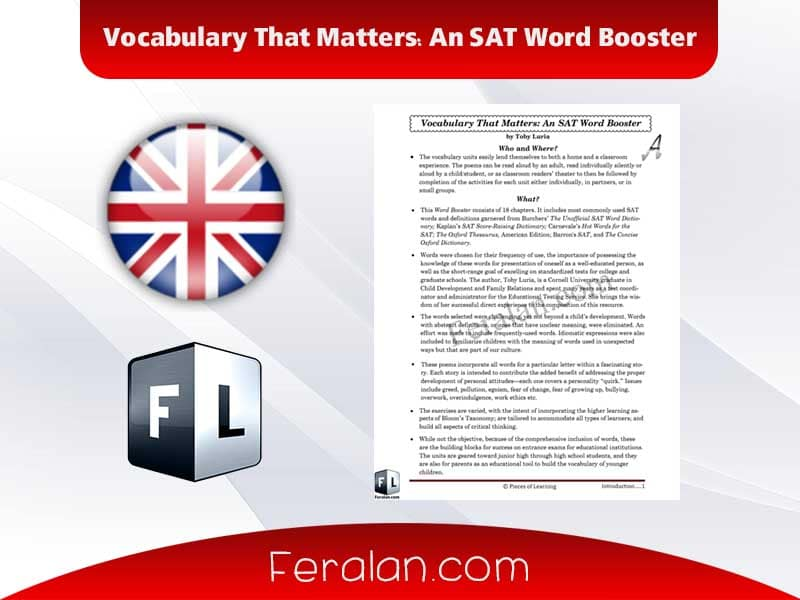 Vocabulary That Matters An SAT Word Booster